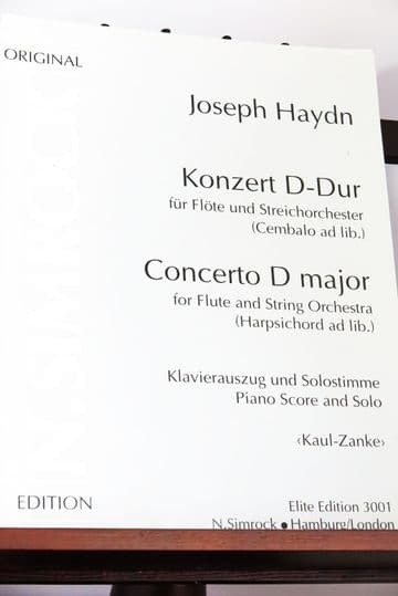 Haydn J - Concerto in D for Flute & Piano arr Kaul O